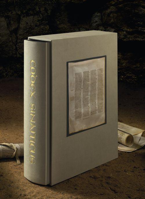 The printed facsimile of Codex Sinaiticus.