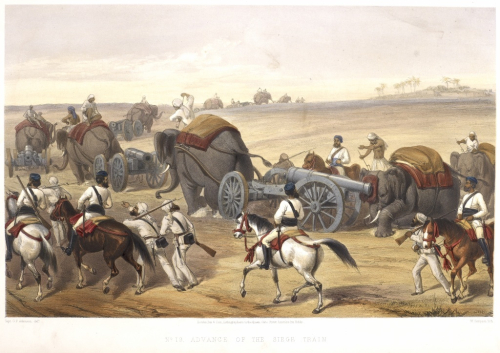 Painting of military operations during the Indian Uprising