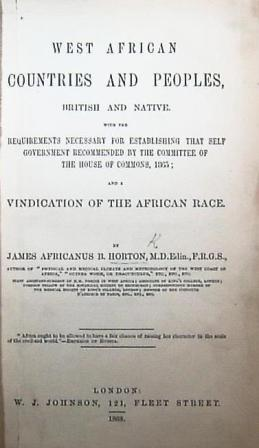 Title page of West African Countries and Peoples