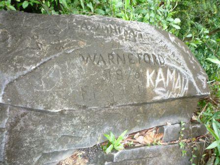 Andaman rock with graffiti
