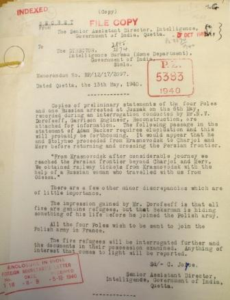 Statements of Polish refugees from India Office Records
