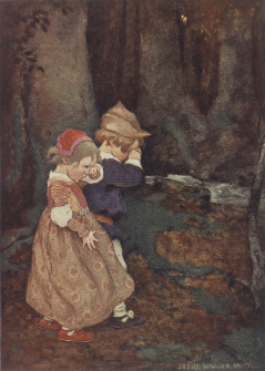 Hansel & Gretel lost in the wood