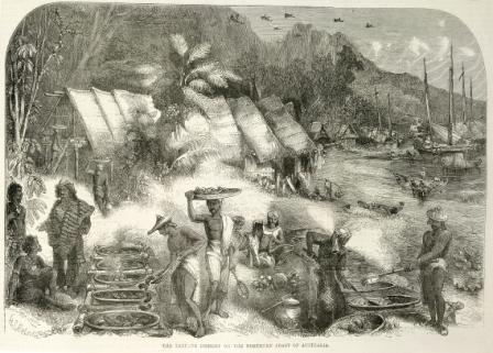 Trepang fishery on the northern coast of Australia