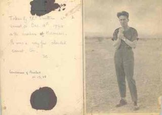 Letter and photo of T E Lawrence