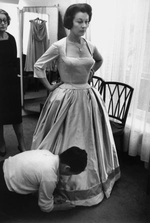 Vivien Leigh during a dress fitting