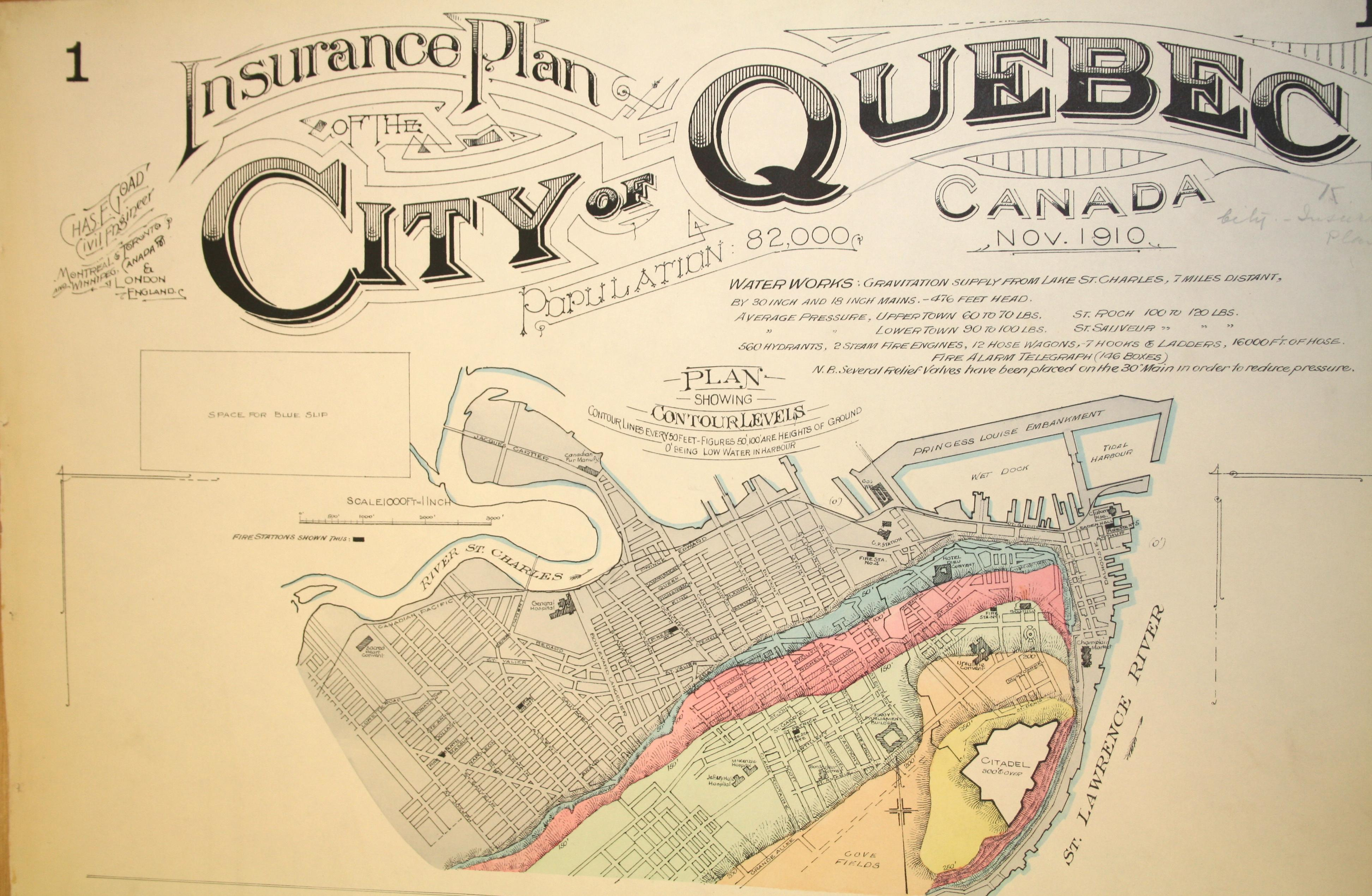 Mapping Risk Goad S Fire Insurance Plan Of Quebec American