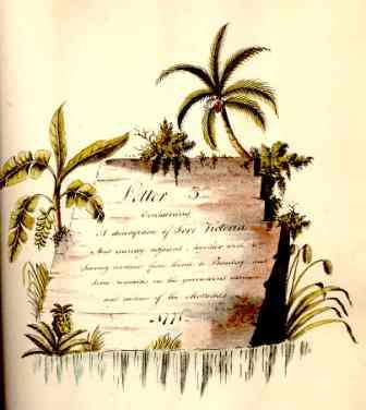 Illustrated letter from James Forbes to his sister describing his journey from Port Victoria to Bombay, 1771