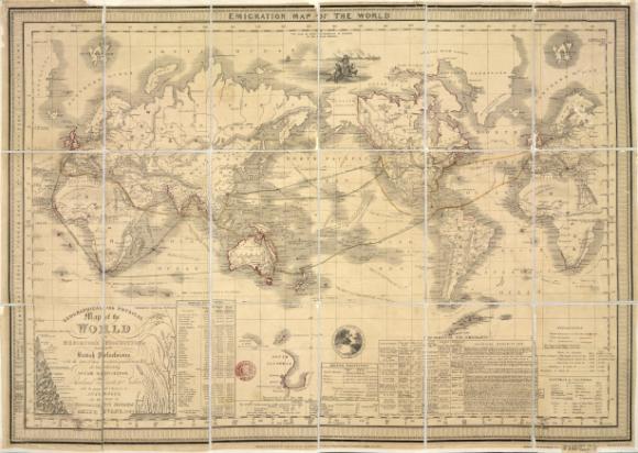 Emigration map