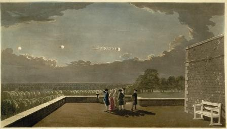 Meteor of 18 August 1783 as it appeared from the terrace at Windsor Castle