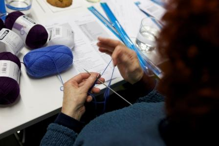 Knitting event at the British Library Spring Festival 2012