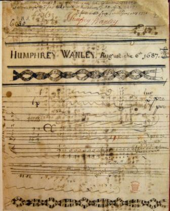 First page of one of Humfrey Wanley's teenage notebooks, dated August 1687