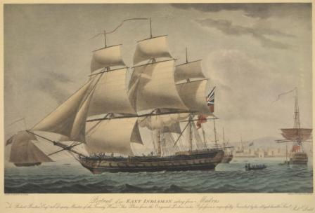 East Indiaman sailing from Madras