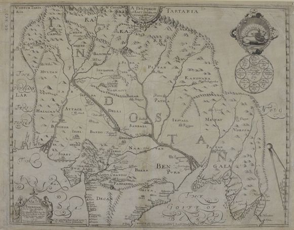 Maps K.Top.115.22. William Baffin's map of the Mughal Empire. London: Thomas Sterne, 1619