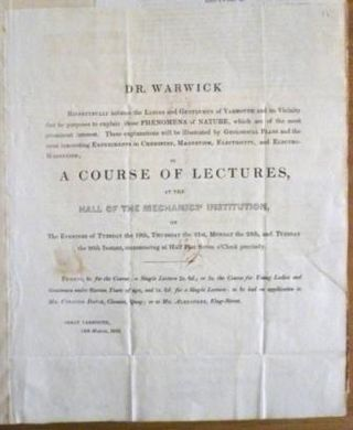 Dr Warwick's course of lectures