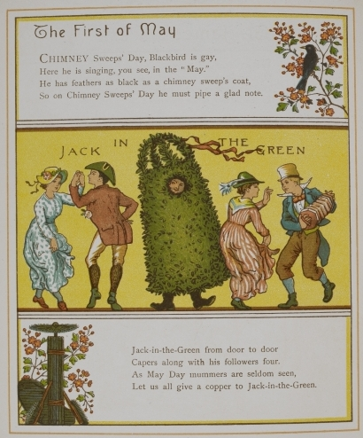 Chimney sweeps and Jack in the Green poems and pictures