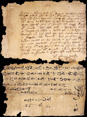 Letter from Richard Cocks at Hirado to William Adams and Richard Wickham at Edo 24 December 1613