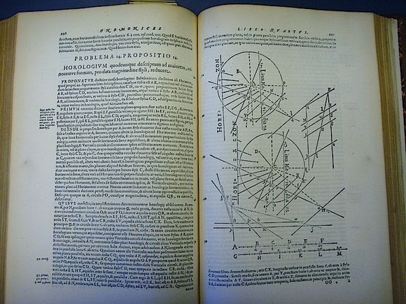 Book 4 of Christoph Clavius,Gnomonices Libri Octopublished in Rome in 1581 (533.k.2, pp. 442-43)