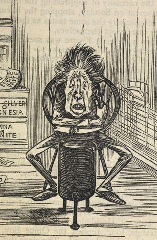 Cartoon of an ill patient