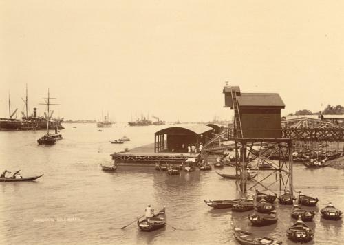 Photograph of the port at Rangoon