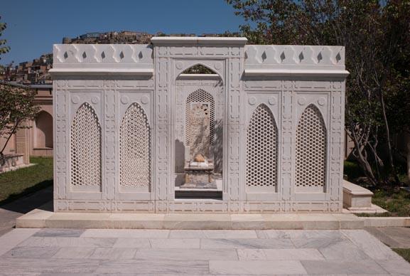 Babur's Tomb in Babur's Garden, Kabul. Photograph by John Falconer.