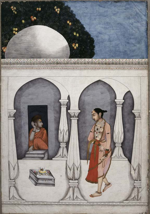 A visit to a shrine Ascribed to Muhammad Faqirallah Khan, c. 1740 British Library, Johnson Album 17,3
