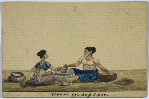 Women grinding flour