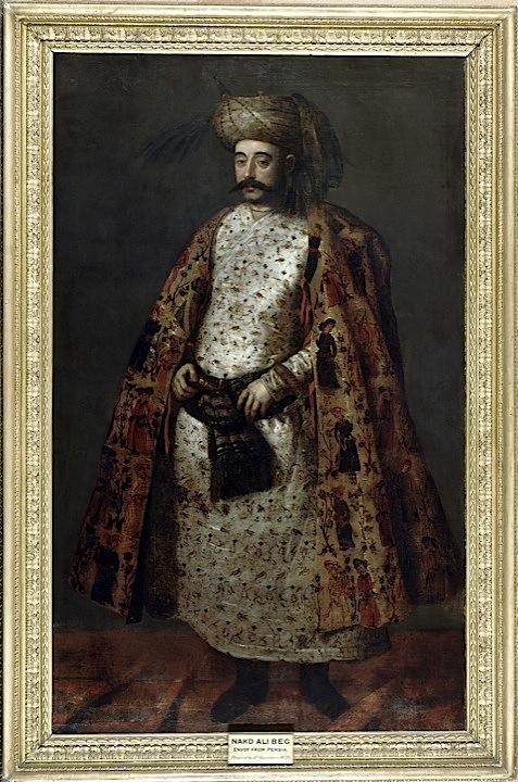 Portrait of Naqd ʻAli Beg, oil on canvas (British Library F23)