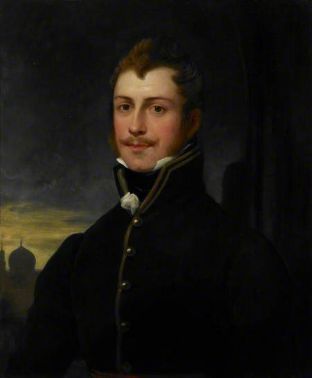 Portrait of Claudius James Rich, ca. 1803, by Thomas Phillips R.A. Donated in 1825 by his widow Mary Rich Oil painting on loan from the Trustees of the British Museum (Foster 886) Images Online