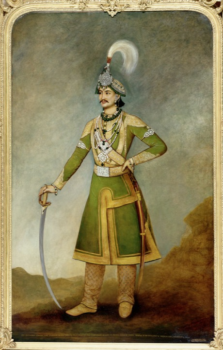 H.E. General Sir Jang Bahadur Kunwar Rana (1817-77), Prime Minister and Commander-in-Chief of Nepal. Oil painting by Bhaujaman Citrakar, 1849 (Foster 36) Images Online
