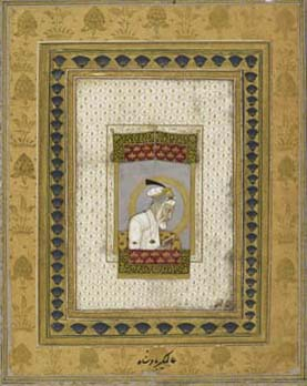 Aurangzeb in his old age. Mughal, c.1700. British Library Johnson Album 2,2.
