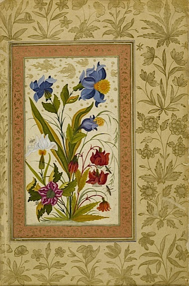 More exotic flowers with insects alighting on them (Add.Or.3129, f 49v).