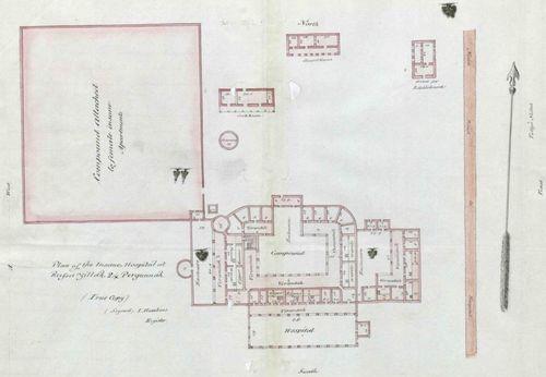 Plan of Insane Hospital, Russa Zillah