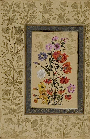 Paired with the page above, this painting shows different varieties of roses and lilies (Add.Or.3129, f.68r).