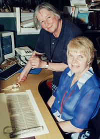 Frances Wood with the Tangut scholar Ksenia Kepping during her last visit to the British Library