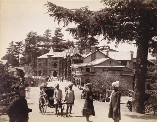 Simla - Post Office and Ridge 1880s
