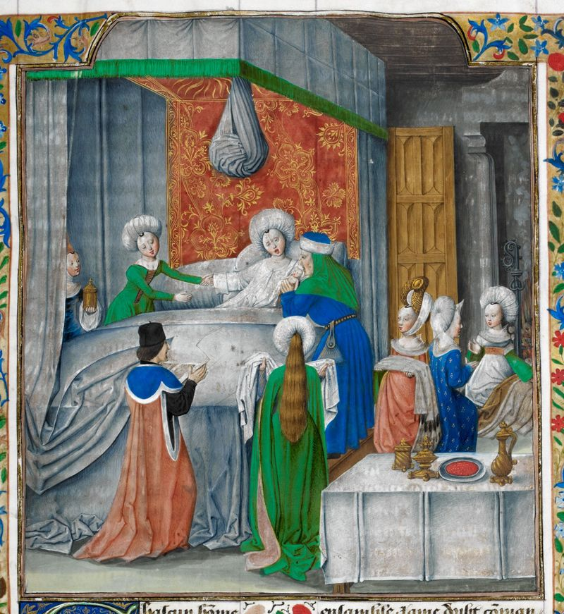 Royal MS 17 F II f. 9r Caesar K90057-89a