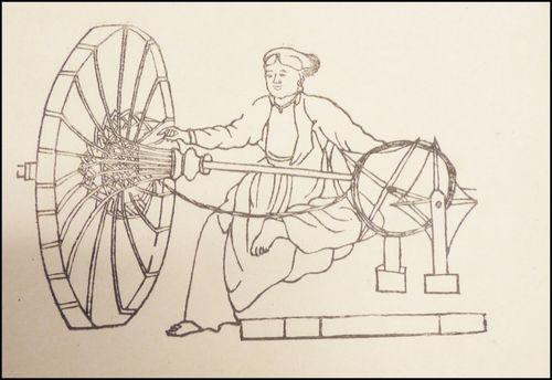 A Vietnamese woman making a parasol. From Henri Oger's Introduction Générale (Or. T.C.4)