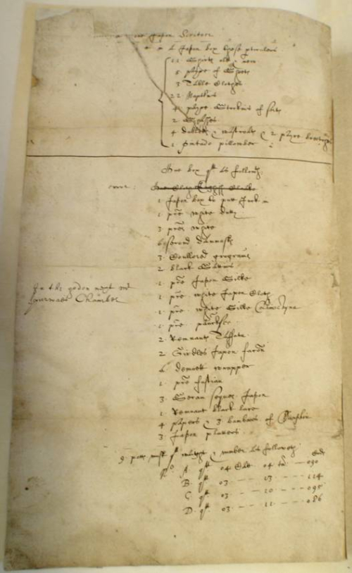 Richard Wickham's inventory