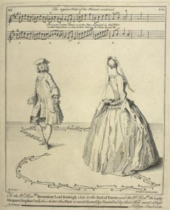 Illustration of a man and woman dancing