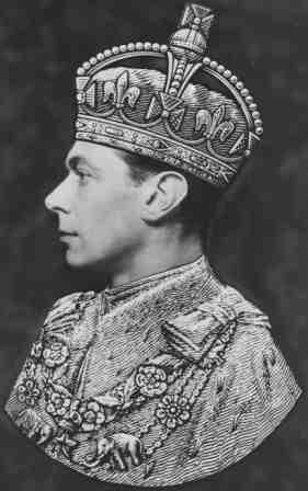 Left facing portrait of George VI.