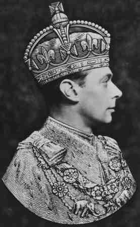 Right facing portrait of George VI.