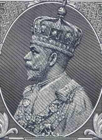 Portrait of Emperor George V of India
