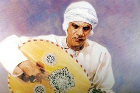 alim Rashid Suri, drawn by an Omani artist in the 1980s