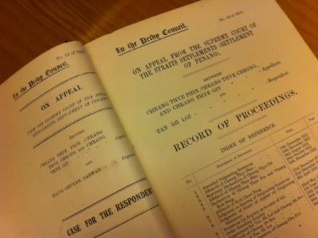 Volume of Privy Council papers