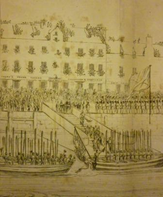 George IV at Leith - arriving by boat
