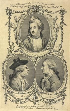Portraits of Elizabeth Chudleigh and both her husbands