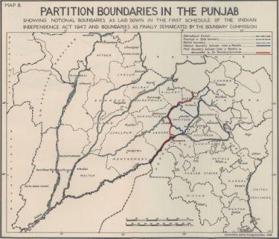 Map of Punjab boundary