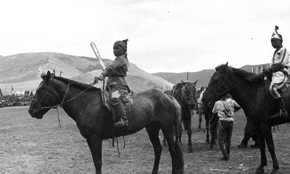 Young boys on horseback