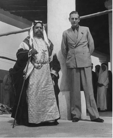 Shaikh Salman bin Hamad Al Khalifa and Charles Belgrave, Bahrain, 1945. (Dmitri Kessel—Time & Life Pictures/Getty Images)