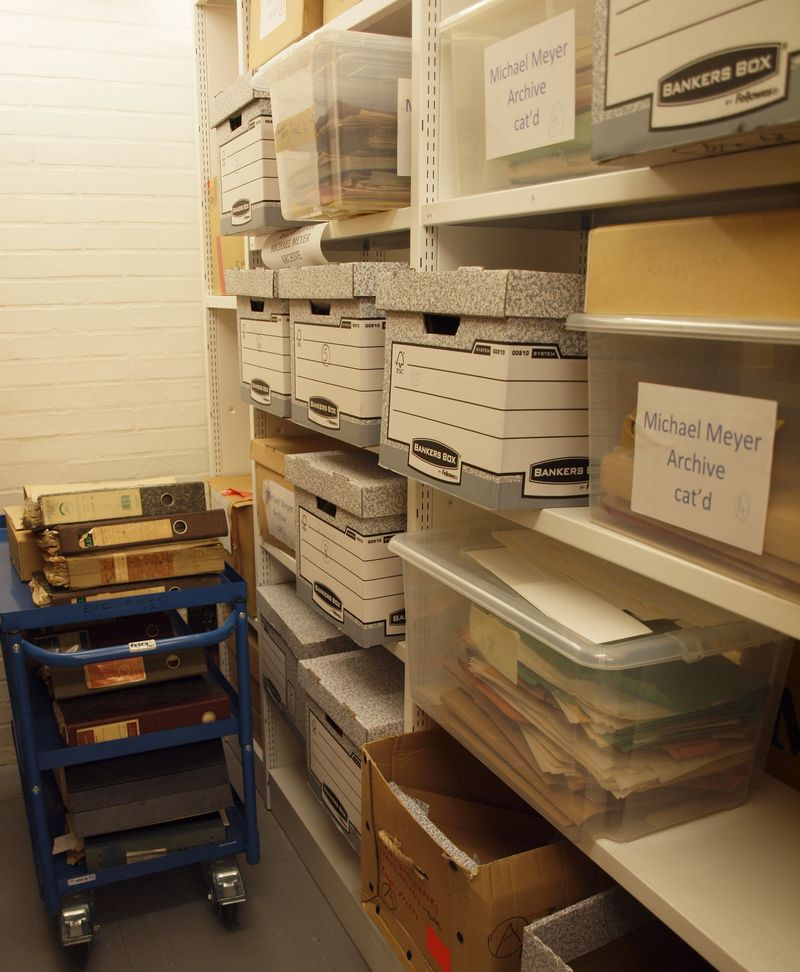 Michael Meyer archive in the stacks